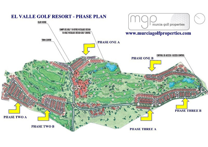 El Valle Golf Resort phase plan