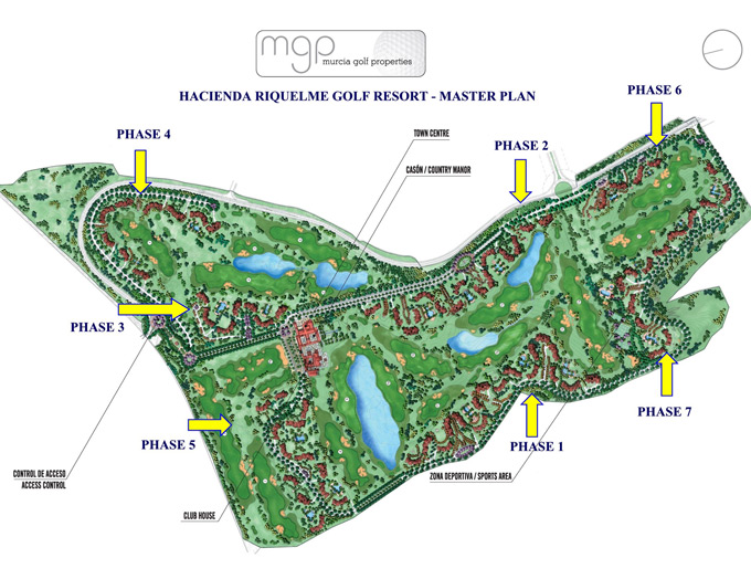 Hacienda Riquelme Resort phase plan