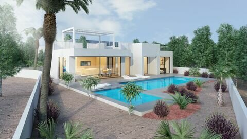 Ref:One-storey-14 Villa For Sale in San Miguel de Salinas