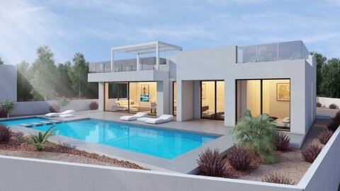 Ref:One-storey-24 Villa For Sale in San Miguel de Salinas